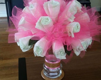Pink Diaper Bouquet