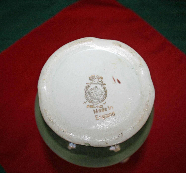 Antique A G Harley Jones Royal Vienna Vase H J England Porcelain Decorative 2 Handled Flower