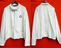 MEGA SALE! Vintage Polo Crest Flag 1967 - 1987  Zip Up Jacket Size L RARE / Polo Sportsman Ralph Lauren prlc Shirt Polo Stadium Golf Ski