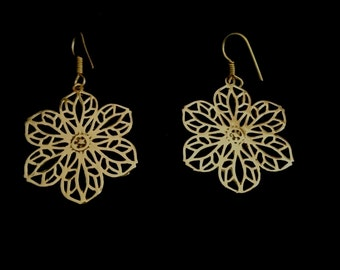 NEW mandala flower earrings