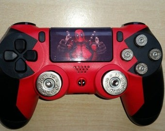 Custom Deadpool Custom PS4 controller