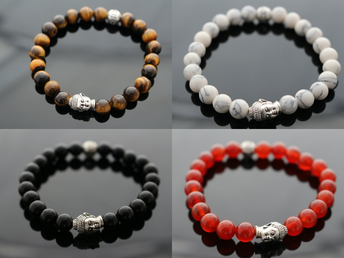 Buddha Mens Bracelet Beaded Bracelet Unisex Bracelet With