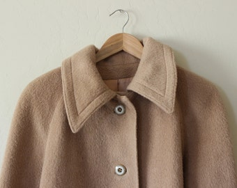 women's camel wool coat | vintage wool coat | 1960s wool coat | women's tan wool coat