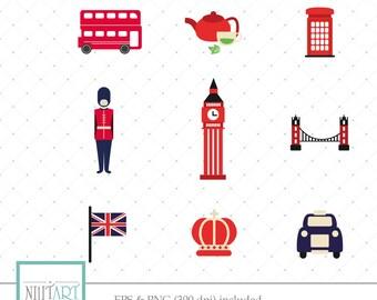 London clipart, British clipart, Big ben clipart, vector graphics, England  clipart , digital images -  CL 146