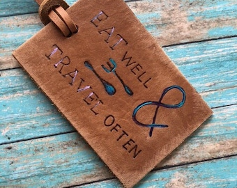 Travel Accessory - Travel Tag - Custom Leather Luggage Tag - Personalized Luggage tag - Initials leather luggage tag - airplane tag