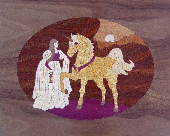"8""x 10"" Marquetry Project Kit - Unicorn"