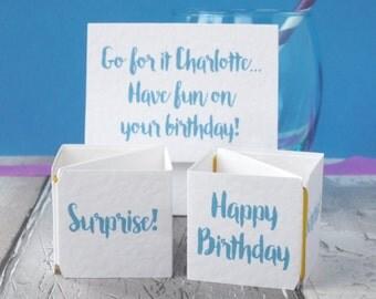 Pop Up Birthday Card for Friend- Birthday Card for Sister - Funny Birthday Card - Personalised Birthday Card - Pop up Card