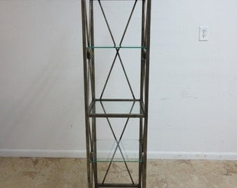Maitland Smith Metal French Regency Etagere Shelf Curio Display Hutch Tower
