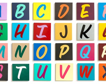 "4"" Hand Painted Wood Alphabet Letters"