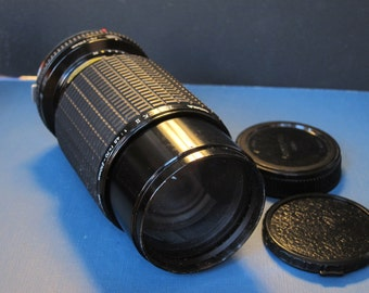 Sigma 70-210 mm and Macro f4,5 Lens for Olympus Camera. Vintage 1970s Lens