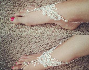 Lace Bridal Soleless sandals