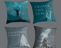NEW Souls Cushions: Praise the Sun & Prepare for Greatness with Dark Souls and Bloodboorne inspired throw pillows