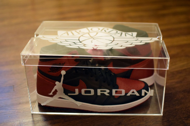 Acrylic Shoe Boxes : Jordan s clear acrylic shoe box