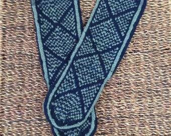 Mukluks Slippers wool socks hippie bohemian boho handmade knitted Small sizes 6 7 8