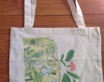 Flower God tote bag