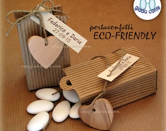 ECO-FRIENDLY wedding favors (DIY kits or packaged version)-set 25 pieces