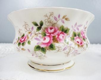 Royal Albert Lavender Rose Large Bone China Sugar Bowl - 1961