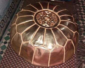 gold pouf,silver pouf,pouf,moroccan leather poufs,leather pouf,pouffes,moroccan poufs