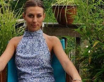 Women's 70's style halter dress