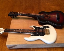 Set 2 Salesman Sample Guitar Electric Accustic Miniture Collectible