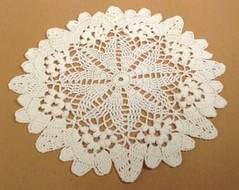 Crochet White Doilie (#07-03)