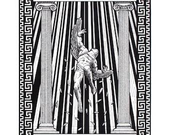 Icarus Falling Reproduction Print