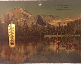 Vintage Advertising Thermometer- Clarksfork, Idaho
