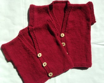 Knitted Baby Vest - Vintage Inspired
