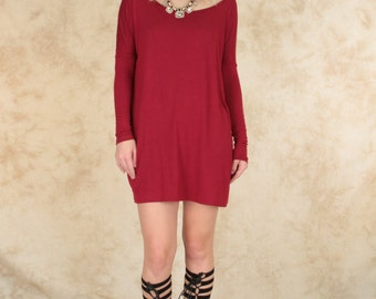 Over-Sized Long Sleeve Tunic Top