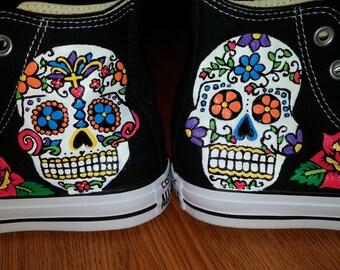 Sugar Skulls Hand Painted Sneakers
