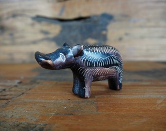 Mid Century Great Rift Valley Hippo Figurine from the 1950's