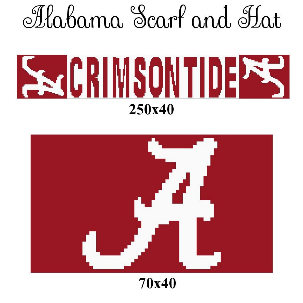 Crochet graphs, graphghans, afghans: Alabama graph, alabama scarf ...