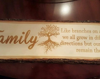 Family Roots Engraving