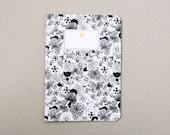 Flowers Notebook / notebook paper cut flowers / A5 / handmade / handmade