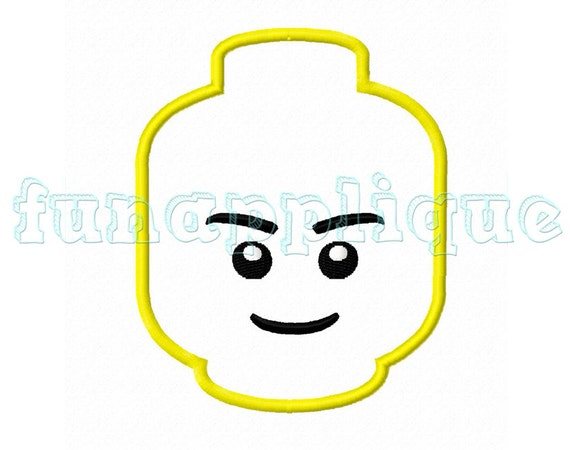 cute lego Applique design for Machine Embroidery instant download 4 ...
