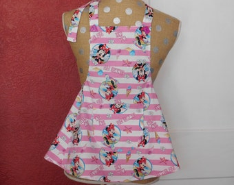 CHILDS MINNIE MOUSE Apron --  pink