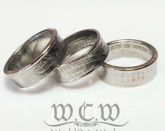 State Quarter Coin Ring - Pick Your State And Size