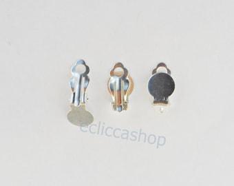 Basic earrings clips silver 2 PZ