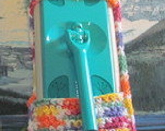 0398 Hand crochet swiffer mop cover