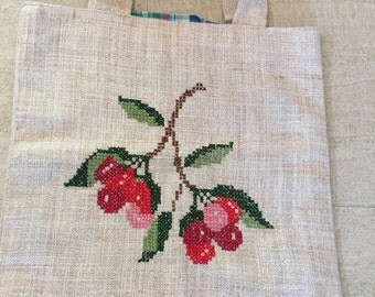 Hand embroidered swiss bag