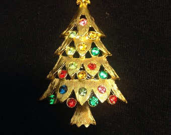 1950's Rhinestone Christmas Tree