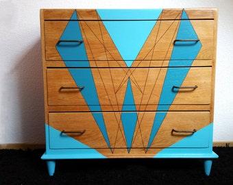 Vintage 60s oak Dresser