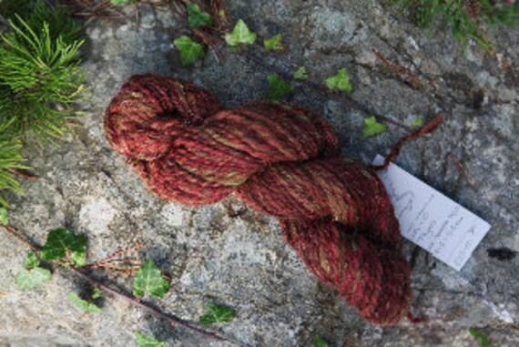 Artisan dyed Hand Spun Wool