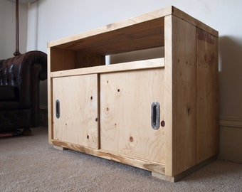 Reclaimed Wood Sideboard or Media Console with Sliding Doors