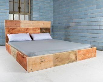 Wooden bed LA BASTIDON