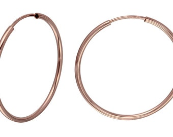 1 Pair 40 mm Hoops 14K Rose Gold Filled Endless (RGF4003812)