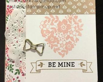 "Stampin' Up ""Be Mine Valentine"" card"