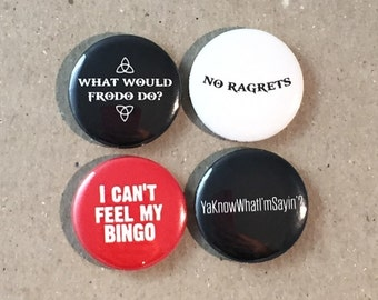 We're The Millers Movie Quotes Fan Art Jason Sudeikis Jennifer Aniston 4 - 1 Inch Button Badge Pinback Pin