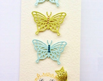 Thank you card Handmade Greeting cards Appreciation Cards Unique thank you card Blank card Butterfly Card Fancy Handmade Thank you Card UK