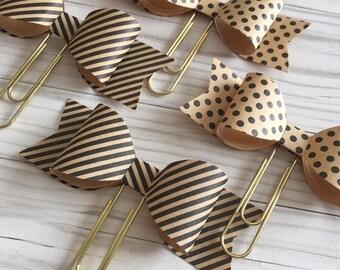 Med Kraft Paper Bow Clip